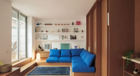 A 70m2 Attic Apartment in Barcelona with Built-In Furniture