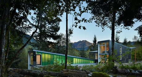 A Striking Modern Cabin at the Foothills of the Cascade Mountains