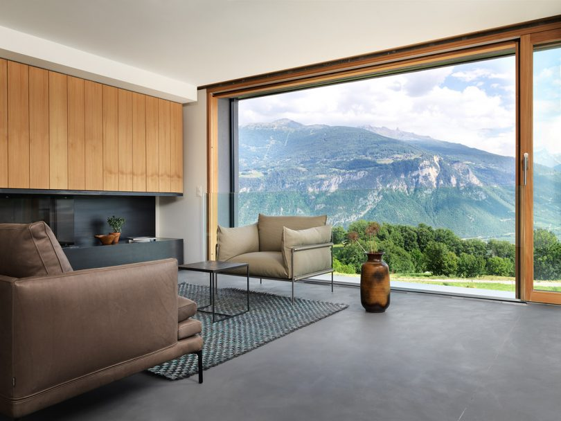 Ralph Germann's Linear ROFR House Acts as a Shield for the Swiss Slopes Above
