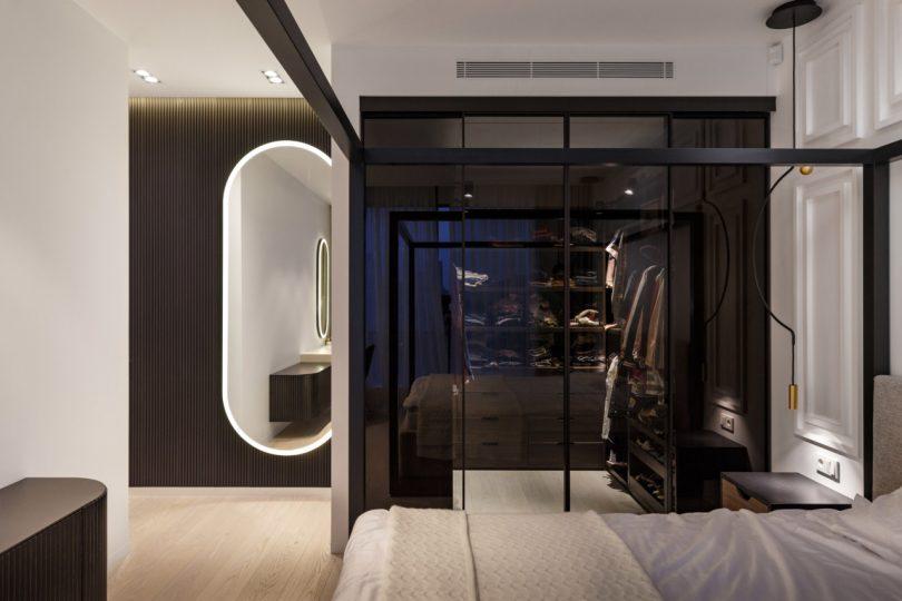 thiết kế phòng ngủ căn hộ 110m2 hiện đại