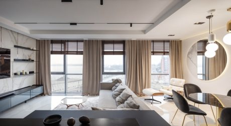 A Modern 110m2 Apartment in Ukraine with Views of Monastery Island