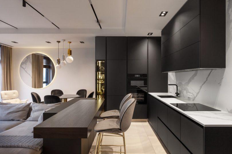 thiết kế căn hộ 110m2 hiện đại