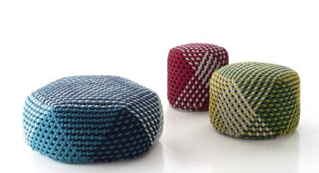 See How unPIZZO Hand-Weaves the Tramae Ottoman for B&B Italia