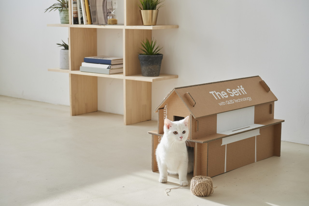 Samsung Eco-Friendly TV Packaging Turns Into Your Pet's New Playground