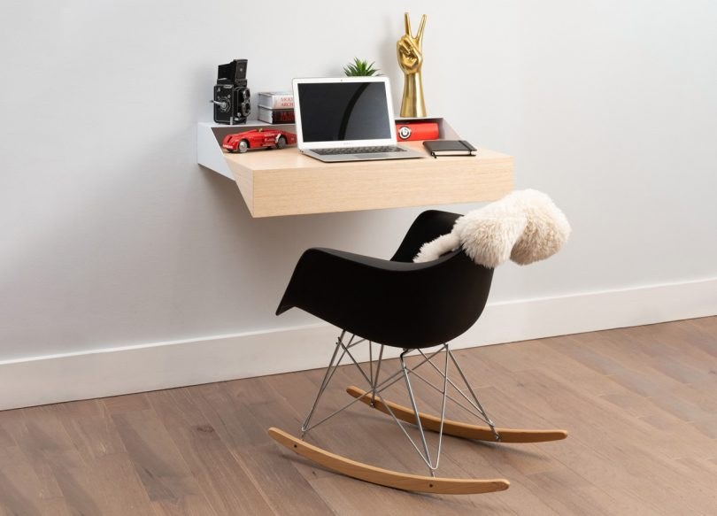 This Hideaway Wall Desk Is a Space Efficient WFH Solution