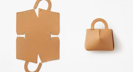 Nendo Creates a Bag Made From a Piece of Laser-Cut Leather