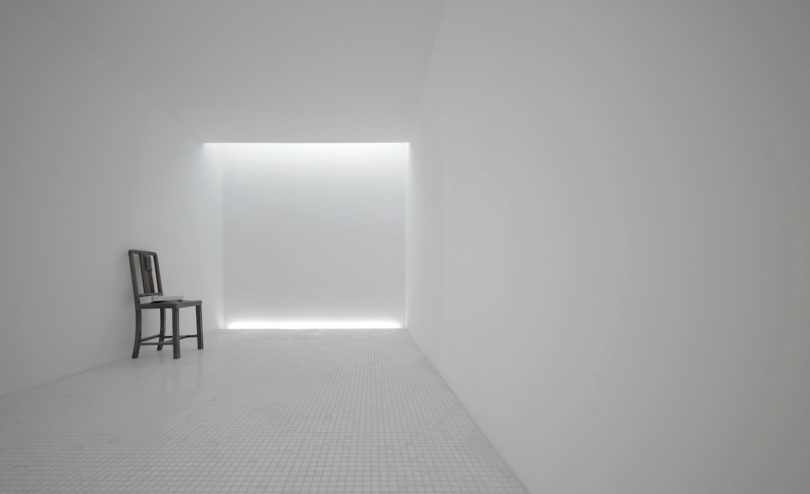 minimalist room with chair zoom background