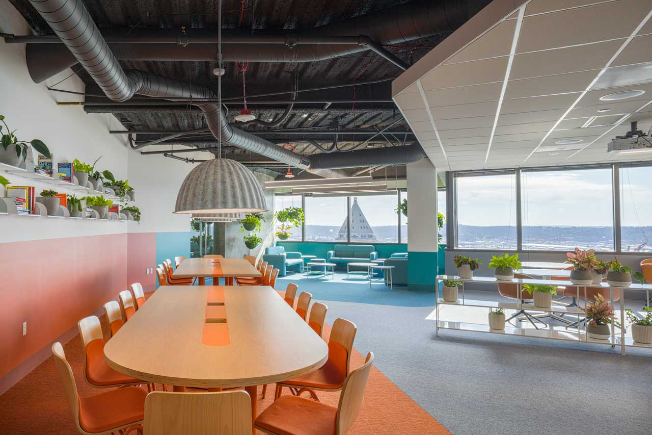 Best Practice Architecture Designs a Color Rich Office for Healthcare App