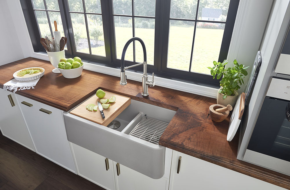 Bring Farmhouse And Industrial Aesthetics Together With The Help Of Blanco S Farmhouse Sinks