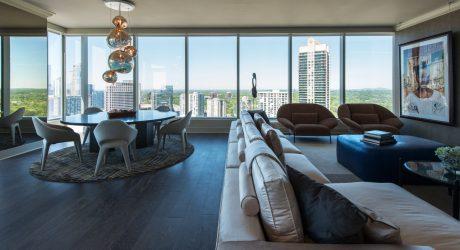 A Sky Rise Condo in Atlanta Undergoes a Sophisticated Renovation