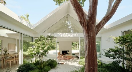 A Remodeled Eichler Home With a Central Atrium in Silicon Valley