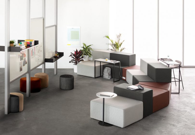 Allsteel Launches a Soft, Modular Seating System Called Rise Lounge