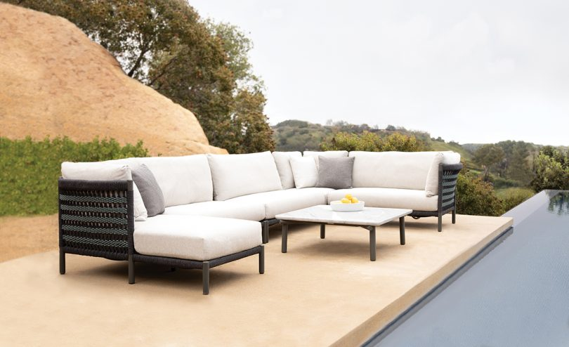 Handwoven Rope Details Highlight the Outdoor Anatra Collection