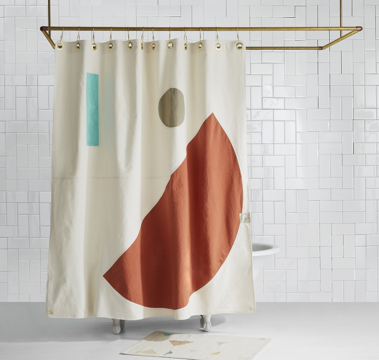 Beacon Clay Shower Curtain