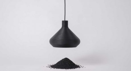 LightArt Transforms Waste into Monochrome Pendants