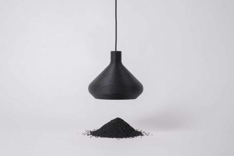LightArt Transforms Waste into Monochrome Pendants