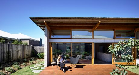 Ballarat House's Modern Details Stand Out From Its Suburban Neighborhood