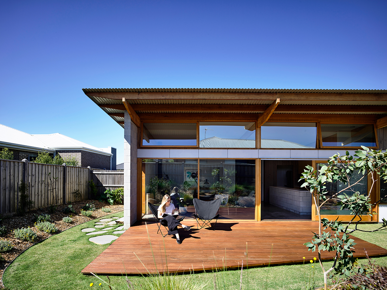 Ballarat House's Modern Details Stand Out From Its Suburban Neighborhood