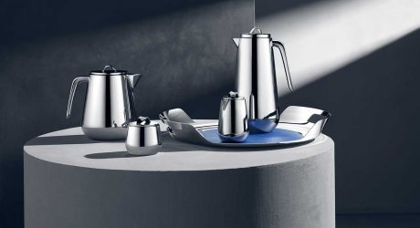 The Modernist, Stainless Steel Helix Coffee and Tea Set From Georg Jensen