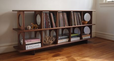 Porthole Shelving System Both Works and Plays