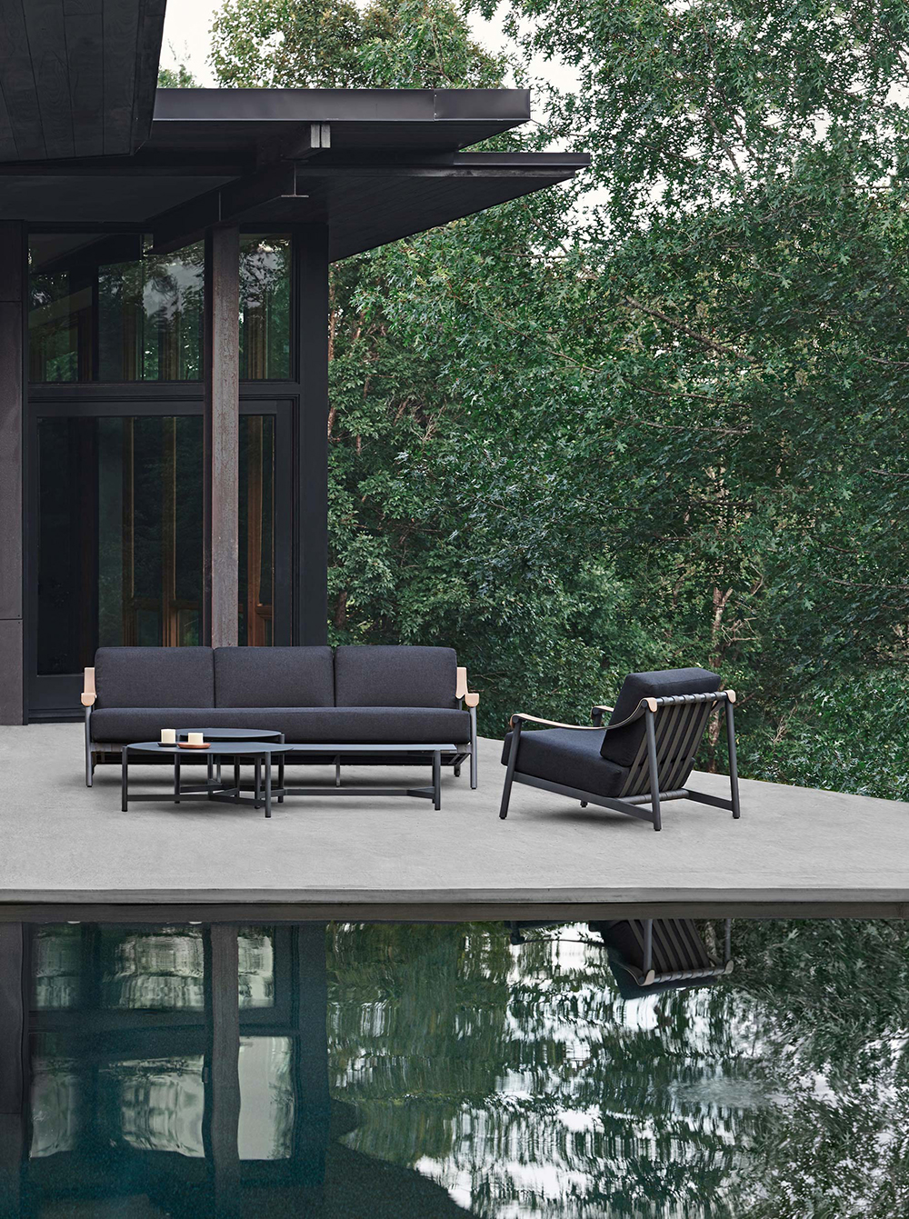 outdoor furniture group by pool
