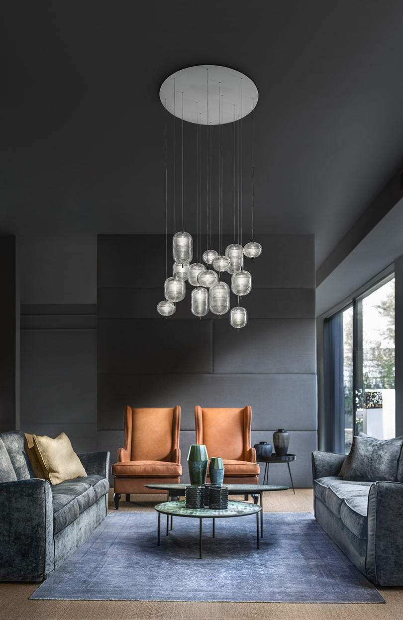 suspension lighting living room