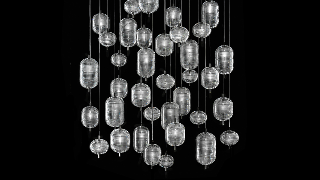 Lodes' Jefferson Crystal Suspension Lighting Evokes the 1960s