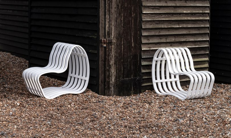 The Sleek + Adaptable Curve Outdoor Bench