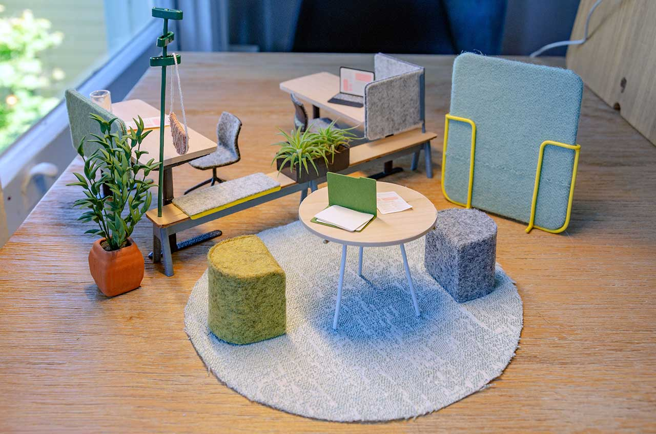Pair Creates Miniature Versions of Their Latest Workplace Furniture System