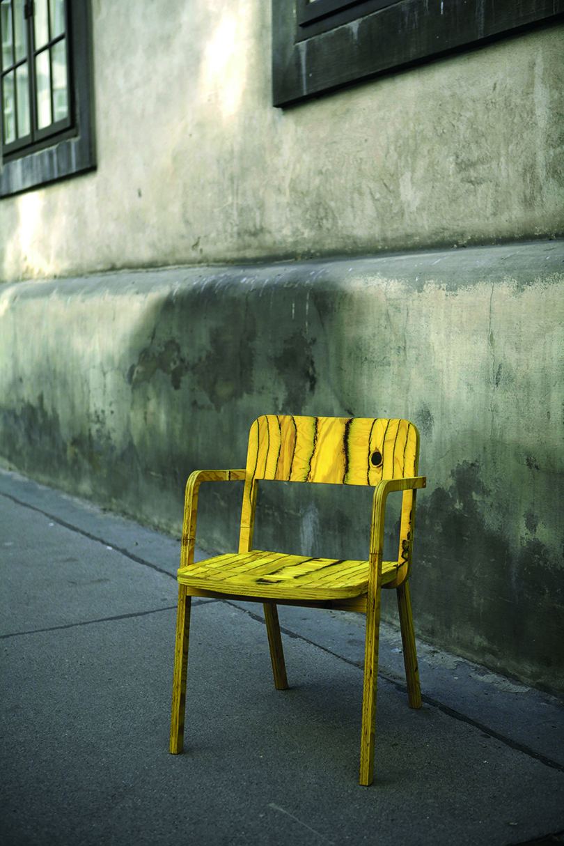 chair on sidewalk