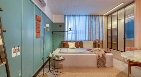 A Small Studio Apartment in Rio Designed with Multifunction in Mind