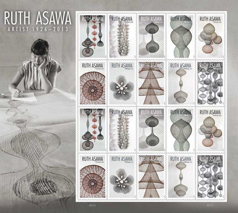 Ruth Asawa stamps