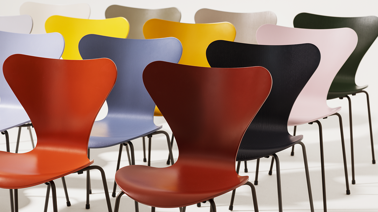 16 New Colors Released for Arne Jacobsen's Stacking Chairs