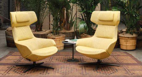 Arper Launches Aston Club Chair in New Kvadrat/Raf Simons Fabrics