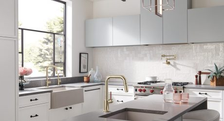 Brizo® Combines Thoughtful Design + Crafted Details in the Odin® Kitchen Collection