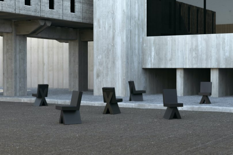 Brutal X-CHAIR for OUT Is 100% Recycled + Fully Circular