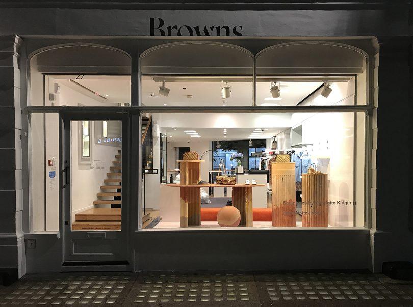 Charlotte Kidger Creates an Iconic Window Display for Browns Fashion