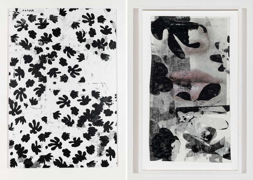 Abstract, Leaf Motif Paintings by Artist Corey Mason
