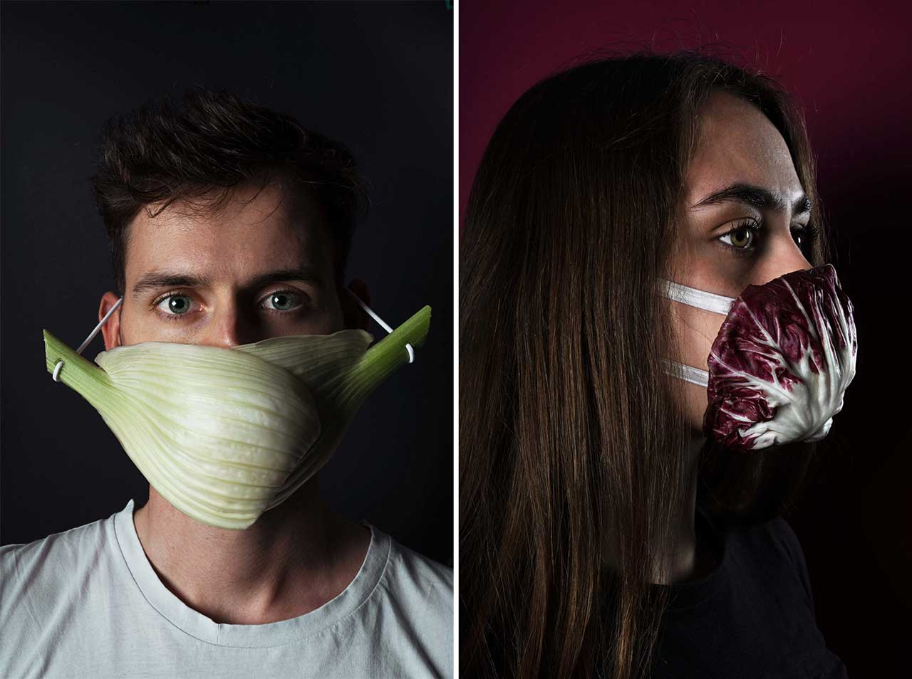 Corona Food Masks Portrait Series by hej studio
