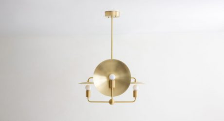 The Minimalist Orbit Chandelier by Workstead