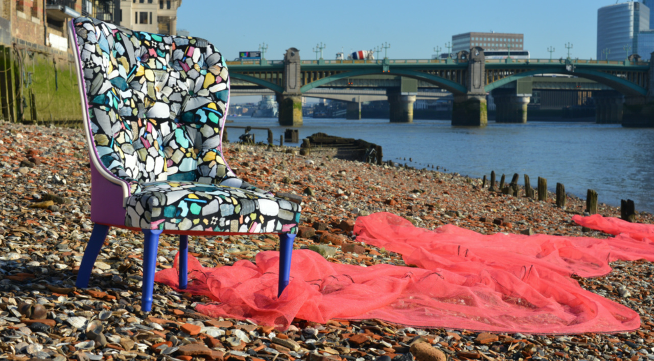 Ella Doran Turns Waste Plastic into an Upholstered Chair With a Message