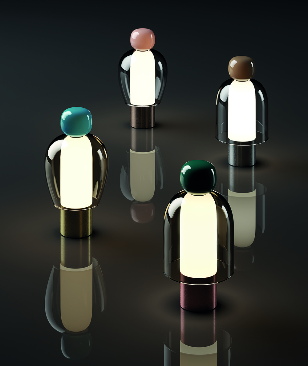group of lit lamps