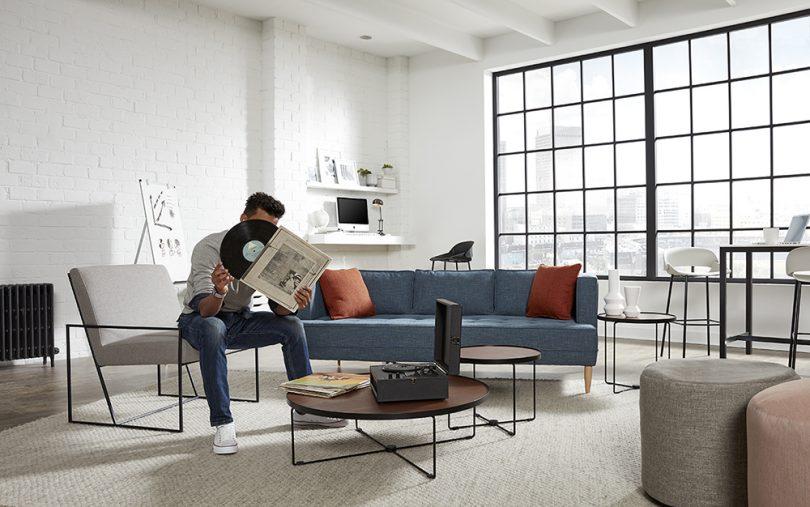 sofa, chair, coffee table