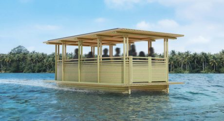 Hari Pontoon: The Solar Powered Bamboo Water Taxi