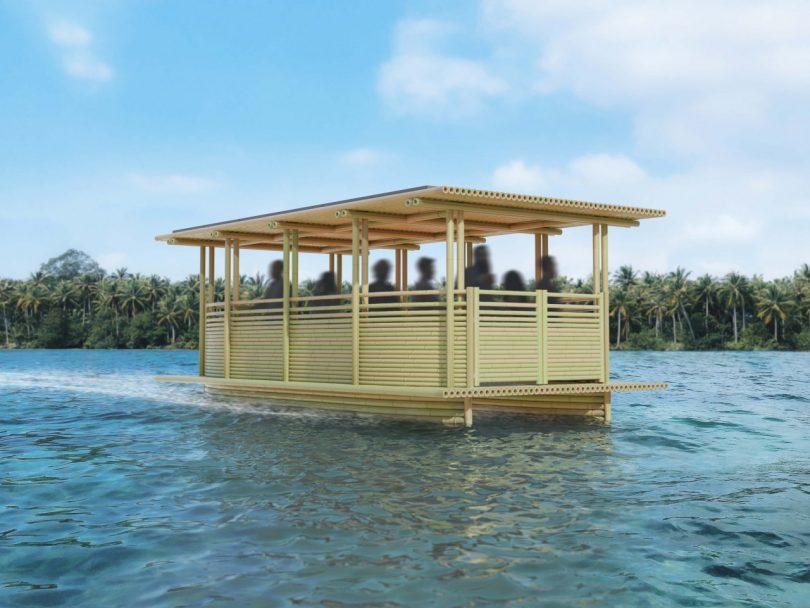 Hari Pontoon: The Solar Powered Bamboo Water Taxi