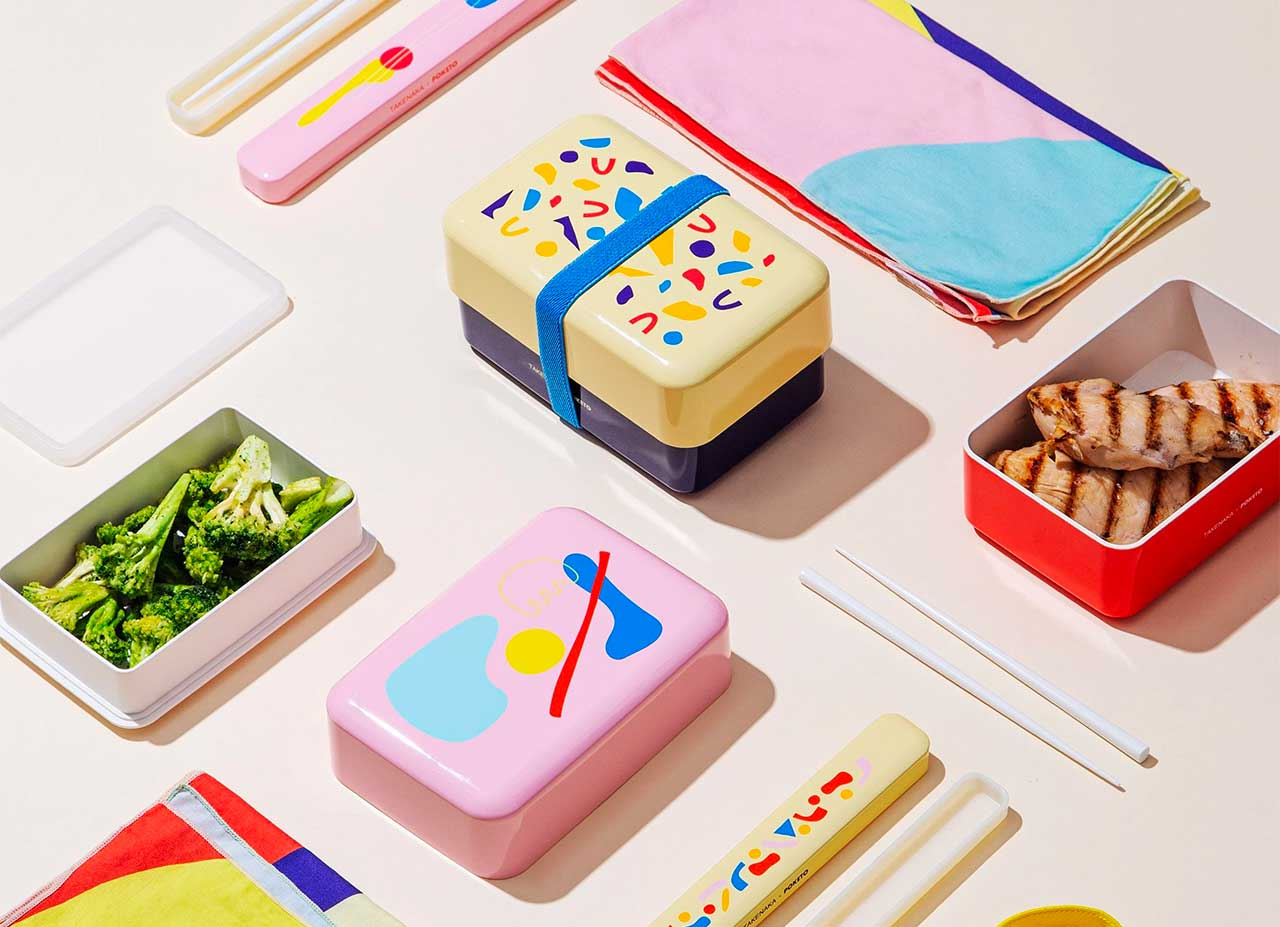 Poketo x Takenaka Team up To Create Colorful Bento Boxes