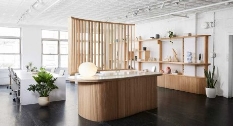 Office of Tangible Space Transforms Loft Into an Inspiring Office + Showroom for Uprise Art