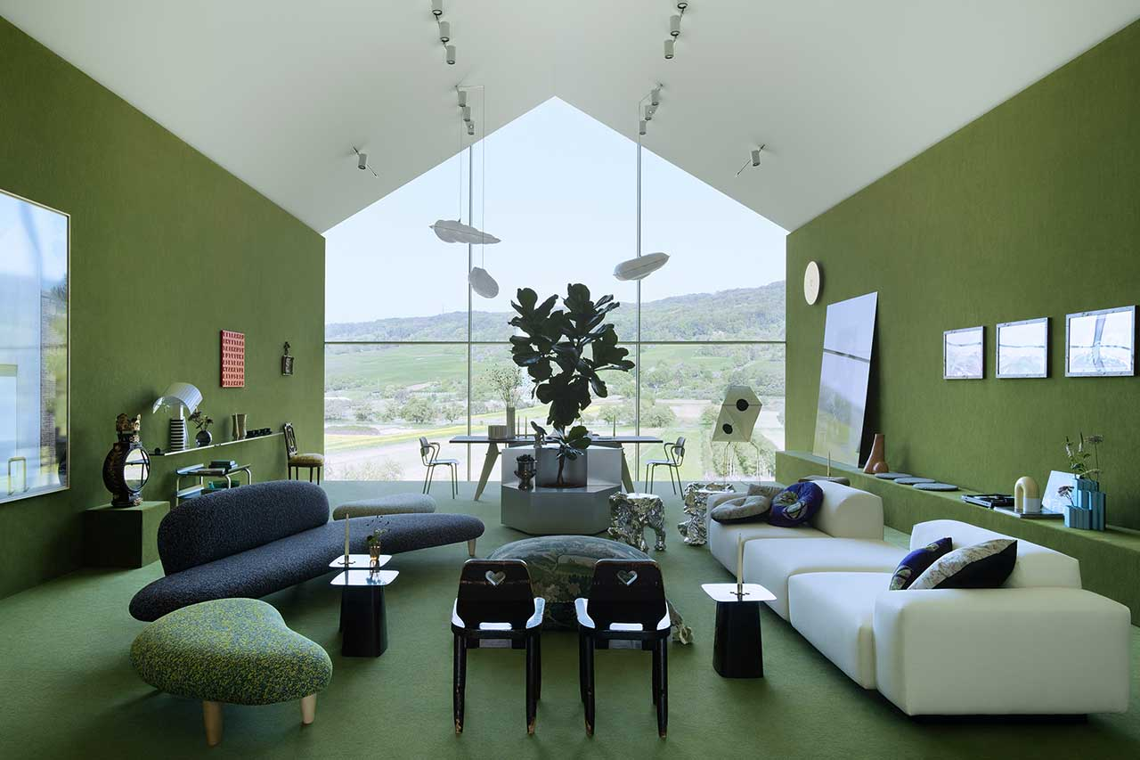 Charlap Hyman & Herrero Reimagines the VitraHaus Loft Into a Lush Interior