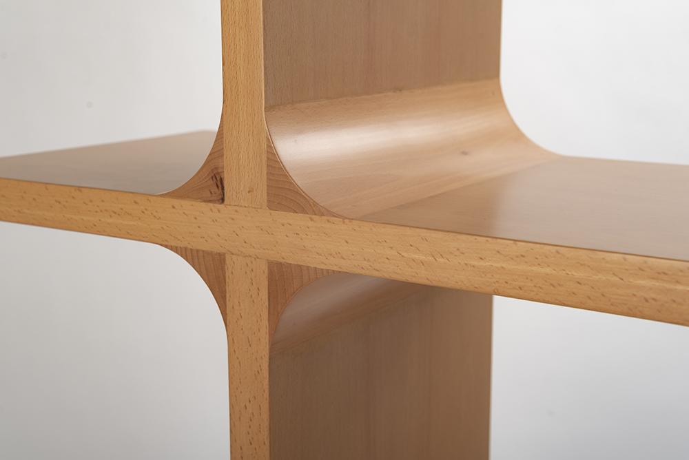 closeup of shelves
