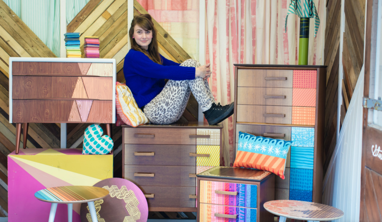 Zoe Murphy Turns Unloved Furniture, Wood and Textiles into Vibrant Home Accessories